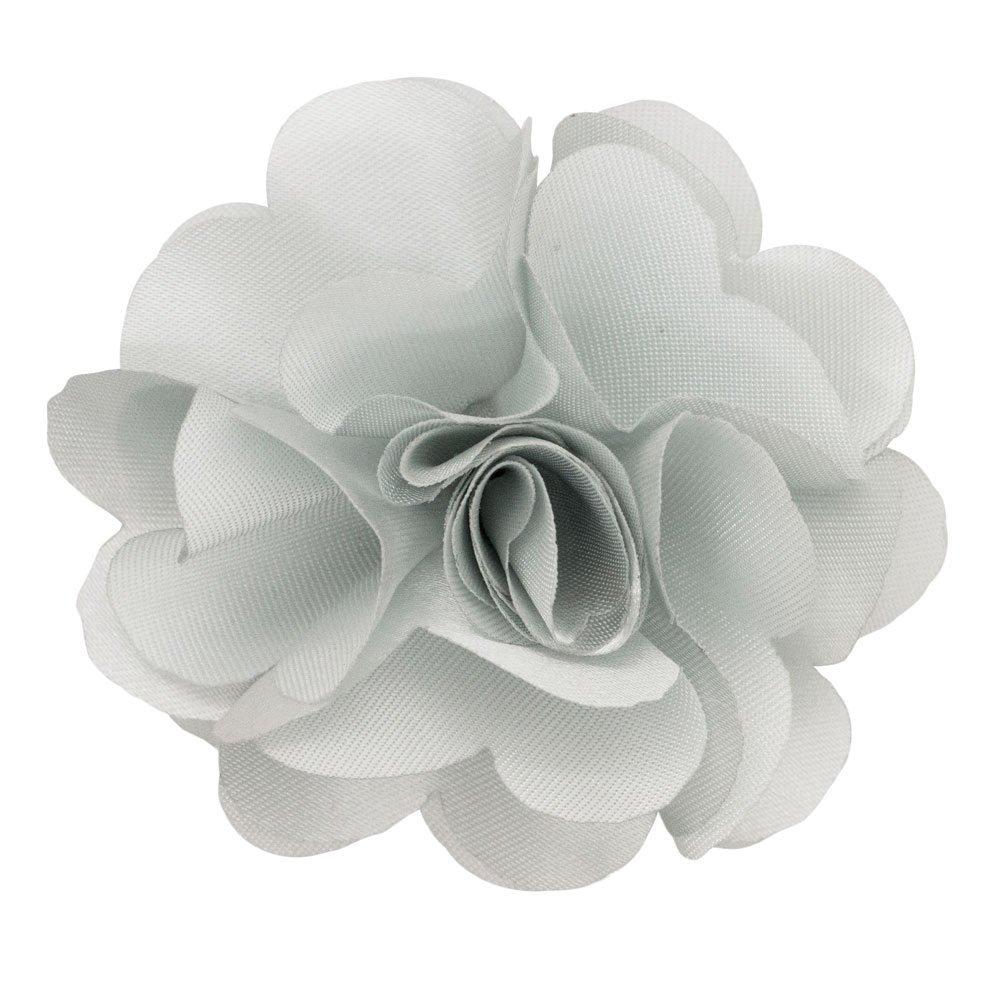 Men's Lapel Flower Light Silver