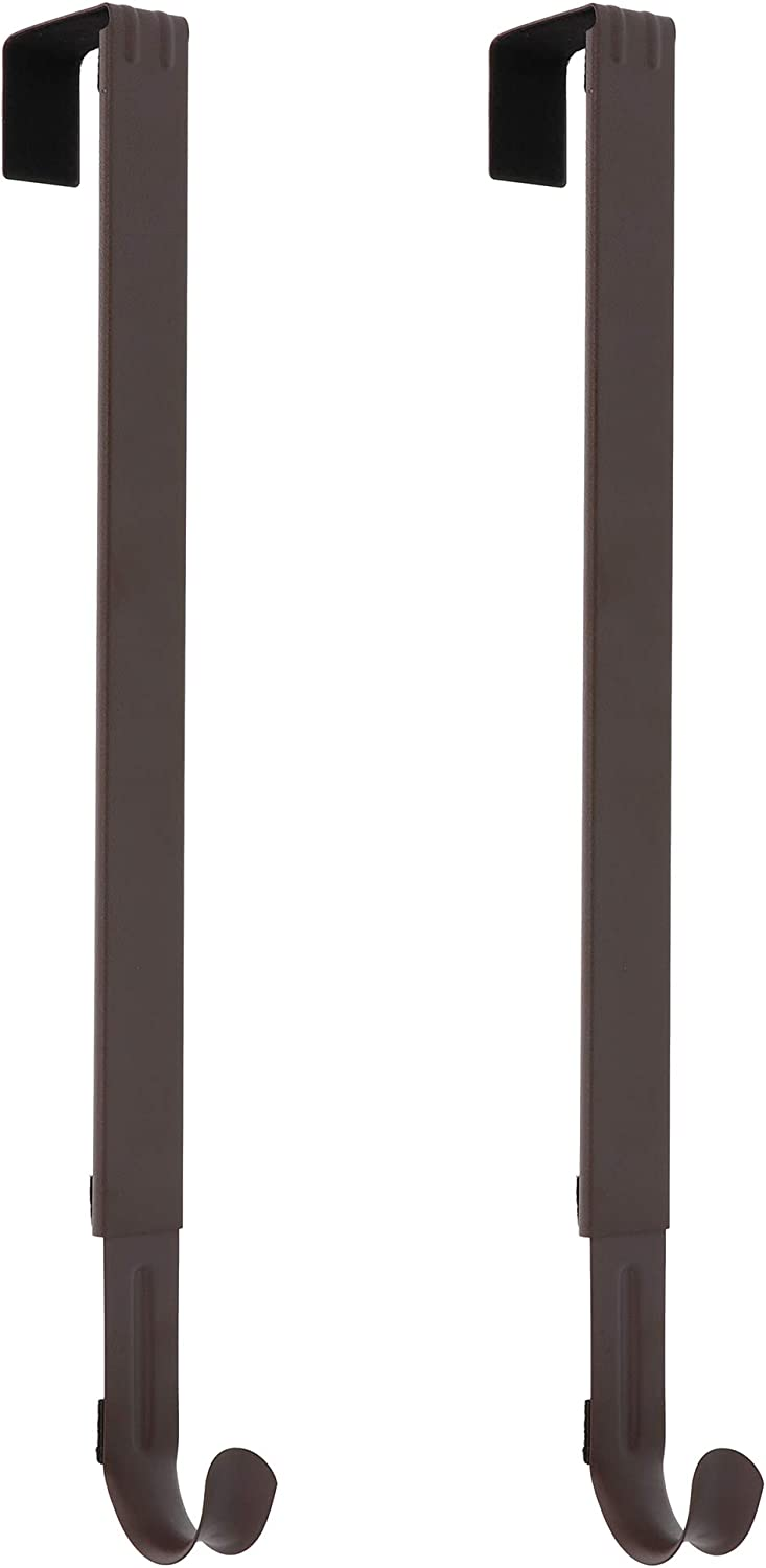 Haute Decor Adapt Adjustable Length Wreath Hanger - 2PACK - Holds up to 20 lbs. (Matte Brown)