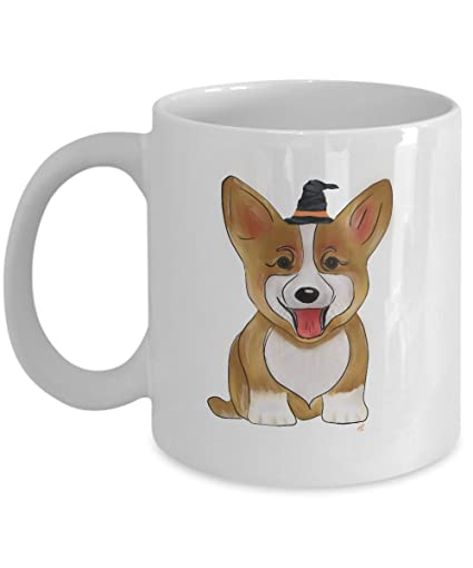 amazon com corgi dog halloween hand designed corgi coffee mug