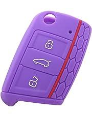 2 Piezas 3 Botones Silicona Funda para llave de coche Car key cover para VW Golf