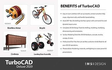 Amazon Com Turbocad 2020 Deluxe Pc Download Software