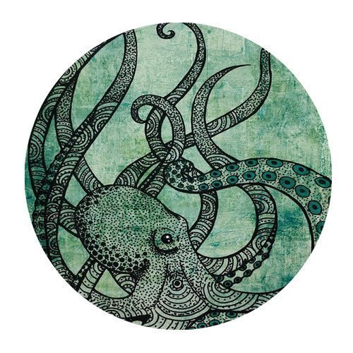 Gorgeous Cool Octopus Color Printed Mousepad Round Non Slip Rubber Mouse pad Gaming Mouse Pad