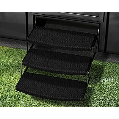 Prest-O-Fit 3-Pack 2-4110 Outrigger Radius XT RV Step Rug Black Onyx 22 in. Wide: Automotive