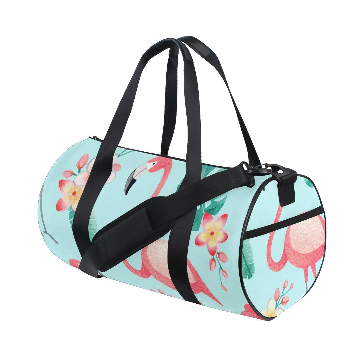 Flamingo Sports Gym Bag Travel Duffel Bag with Pockets Luggage & Travel Gear Shoulder Strap Fitness Bag