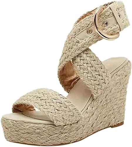 Women Slip On Wedges Slippers Open Toe Criss Cross Roman Beach Sandals Wide Width Orthopedic Toe Shoes Slides