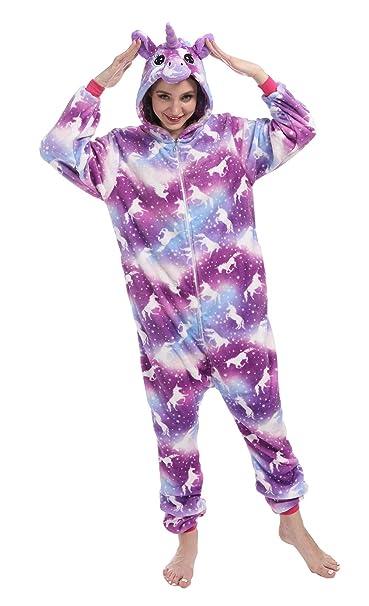 Amazon.com: Uniquecos - Pijama de unicornio para adultos y ...