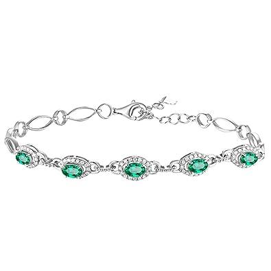 Ovale Aooaz Émeraude Femme Bijoux Forme Bracelet Jonc Bracelets Vert YbfgyI67v