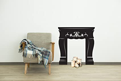 Faux Fireplace Mantel Shabby Chic Wall Decal Vinyl Art Stickers For Homes  Kids Rooms Classrooms Dorms