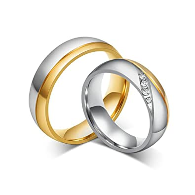 Amazon Tianyi Stainless Steel 18K Gold Plated Wedding