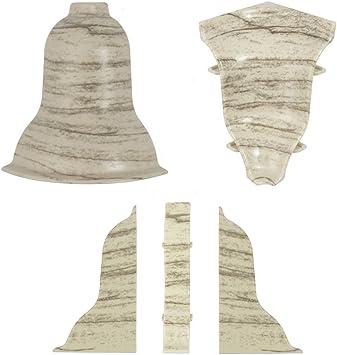 DQ-PP 1 x Au/ßenecke Eiche Vintage 62mm zum Dekor Lamiat Dekore Laminatleisten Fussleisten aus Kunststoff PVC Eiche Vintage