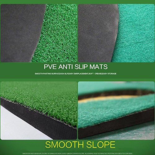 Golf Putting Green By New Brand PGM,3.28FTX9.84FT,Premium EVA Backing Allows Roll Up, No Creases, More Holes by PGM (Image #3)