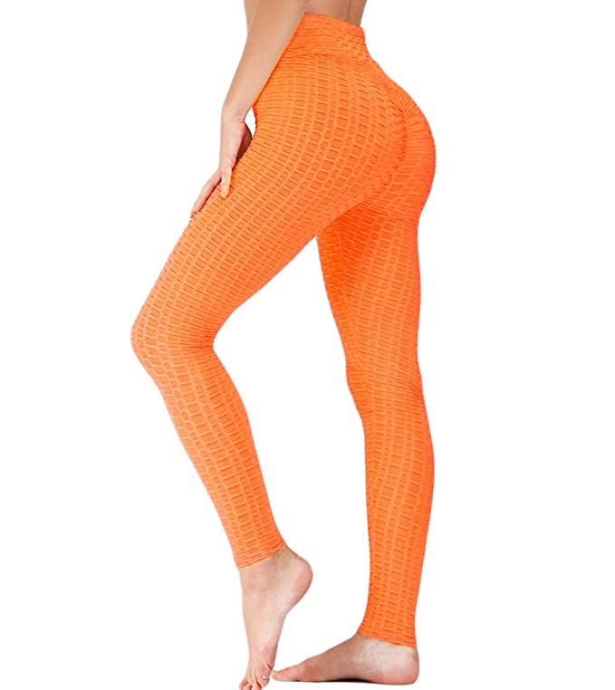 Romastory Womens Butt Lift Yoga Leggings Pants High Waisted Workout Tummy Control Sport Tights