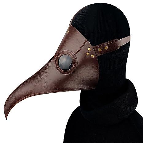 Hey~Yo Plague Máscara de médico, piel sintética, pájaros ...