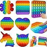 Pop It Fidget Toy Brinquedo Anti Stress Sensorial KIT COM 6und Variados