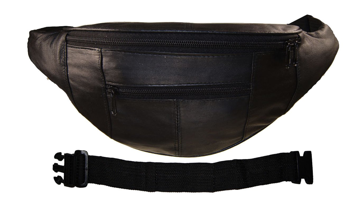 Leather Women Fanny Pack Waist Belt Bag Travel Pouch With 18'' Extension by Wallet (Image #1)
