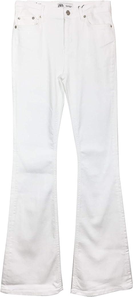 Zara - Pantalones Vaqueros para Mujer, Color Blanco, 9632/061 ...