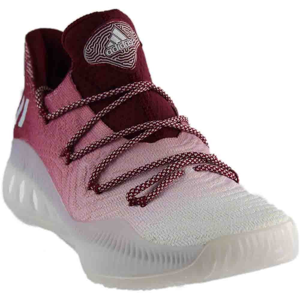 Crazy Explosive Low Primeknit Mens in Grey/White/Burgundy by Adidas, 11