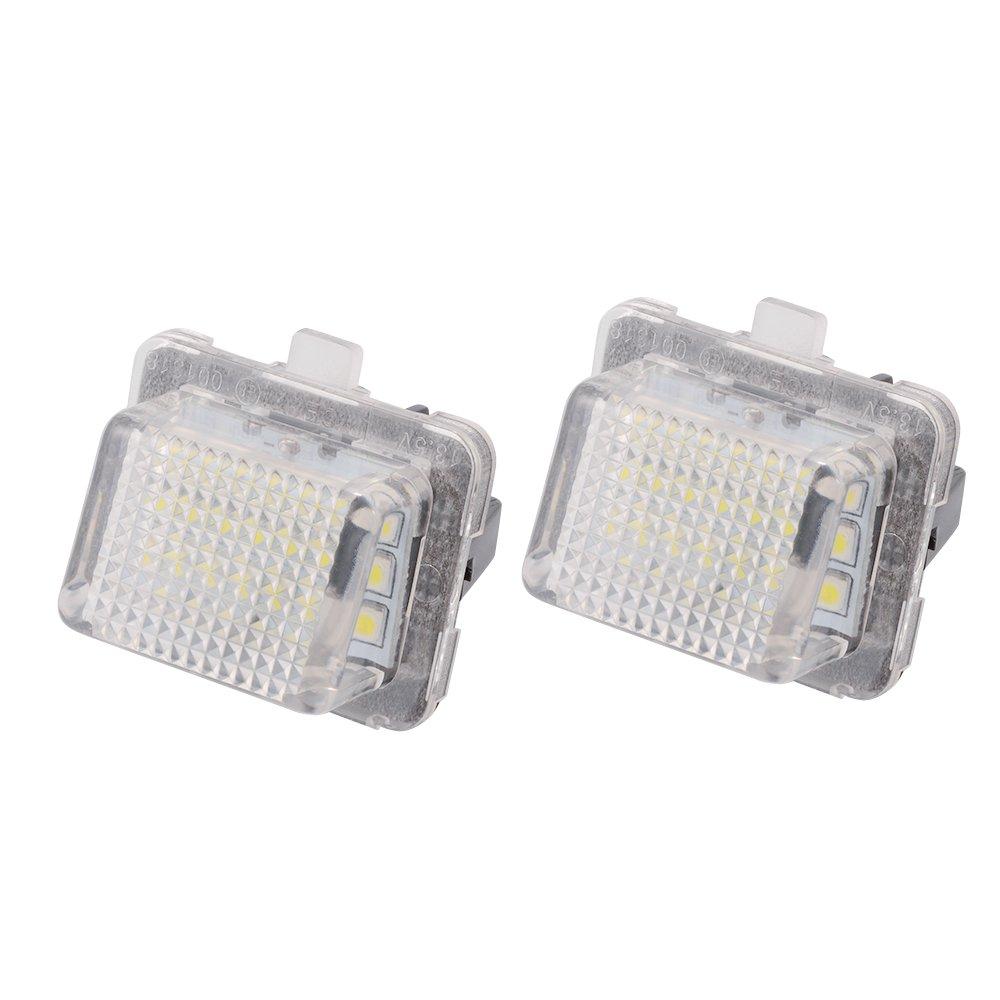 CL CLASSE E Kreema 2Pcs LEDs Feu de Plaque dImmatriculation sans Erreur Lampe Blanche pour Benz W204 W221 W212 W216 W207 C S