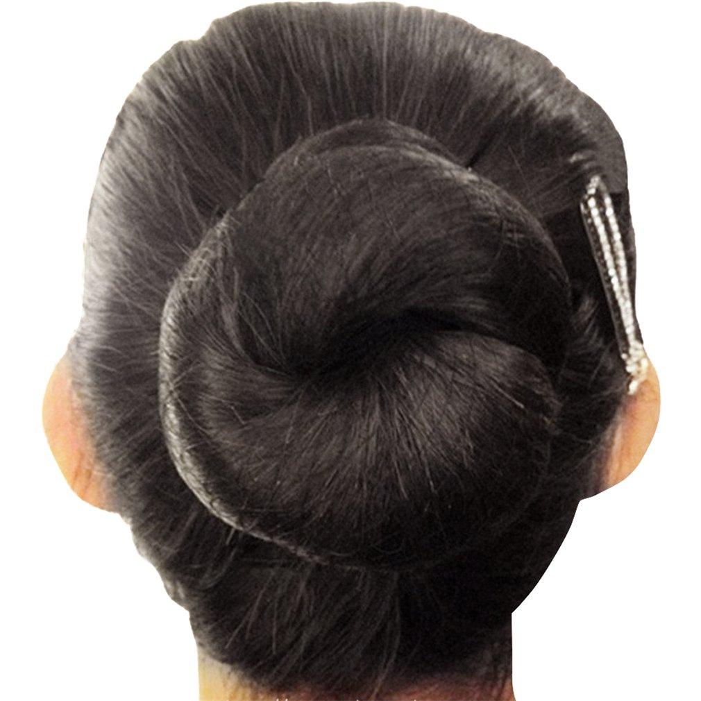 KKTech Pack of 10pcs Hair Nets Invisible Elastic Edge Mesh 50cm(10pcs) (black)