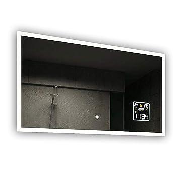 Beau Miroir Salle De Bain Lumineux LED Interrupteur Tactile Et Station Mto
