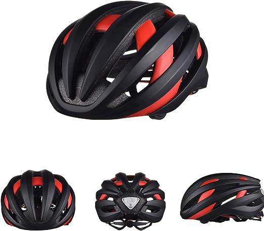 CARACHOME Casco de Bicicleta Bluetooth de Seguridad Inteligente ...
