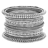 Product review for Aheli Traditional Antique Look Oxidized Bohemian Bangle Pair for Women Girls in Indian Bollywood Style