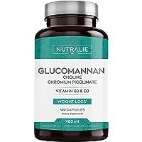 Glucomanano | Ayuda a Adelgazar e Inhibidor del Apetito 100% Natural con Bitartrato de Colina, Picolinato de Cromo y…