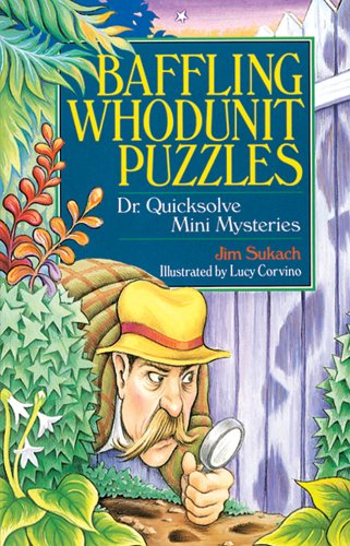 Baffling Whodunit Puzzles: Dr. Quicksolve Mini-Mysteries by Sterling (Image #1)