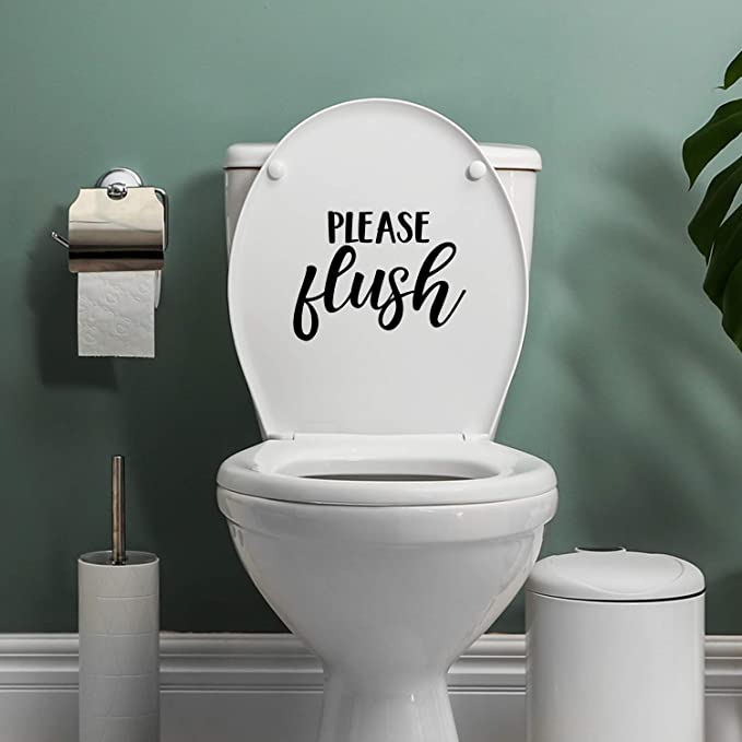 Vinyl Wall Art Decal - Please Flush - 7