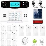Eray M2B GSM Alarme Maison Sans Fil Système d'alarme Anti Intrusion 433MHZ avec Sirène Extérieure Solaire, IOS / Android APP, Appels et SMS, Interphone, Invite Vocale Française