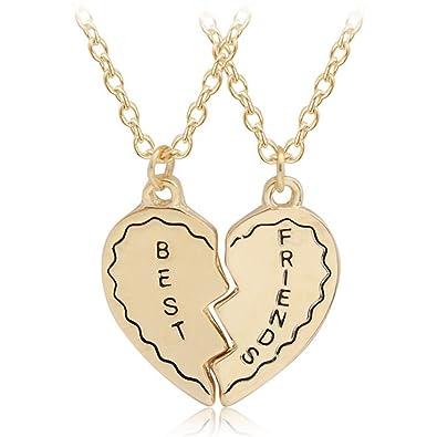 226b294a04dc6 Amazon.com: Latigerf Best Friends Heart Pendant Necklace Puzzle ...