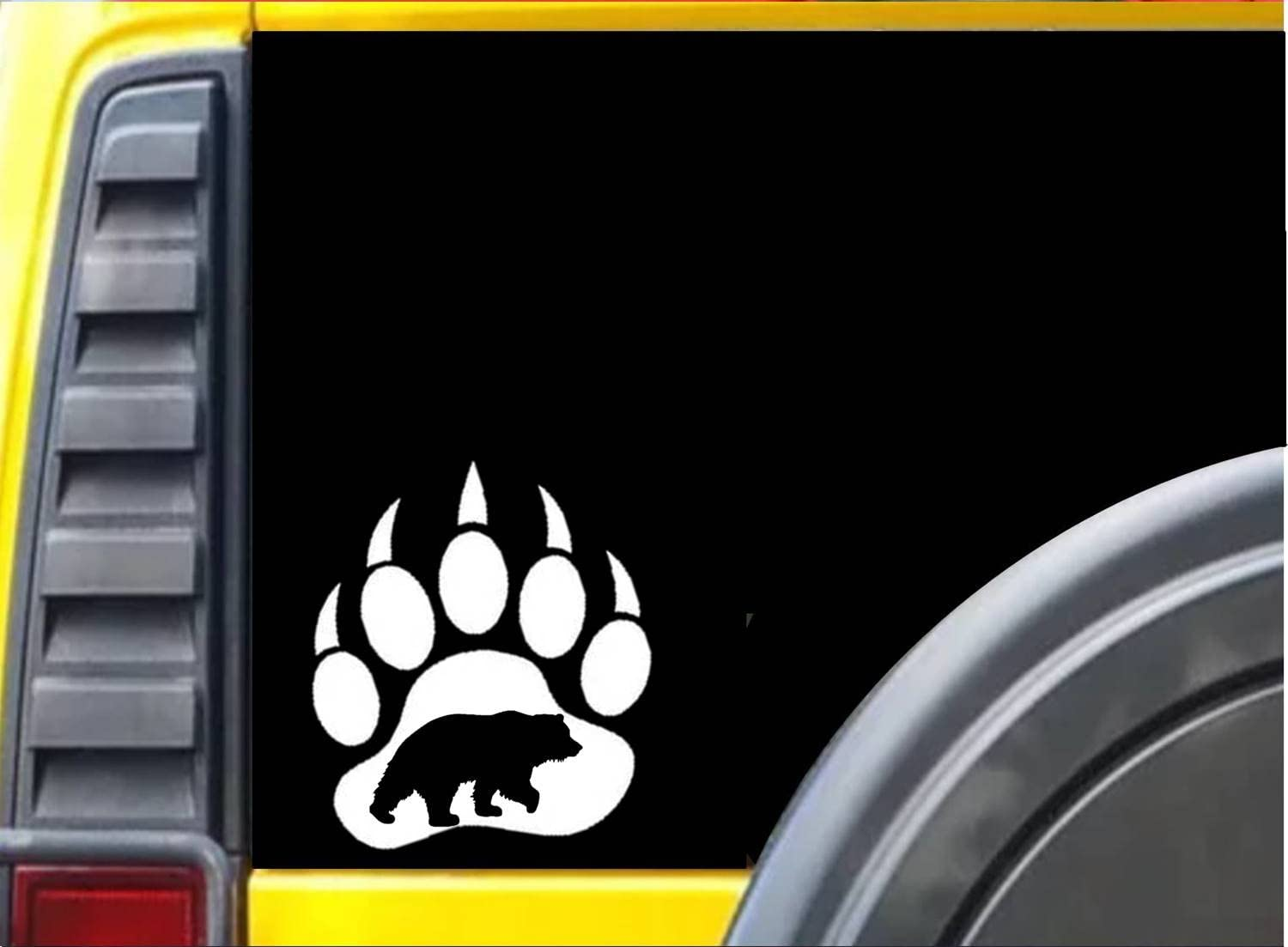 Bear Claw Image K448 6 inch Sticker Grizzle Bear decal