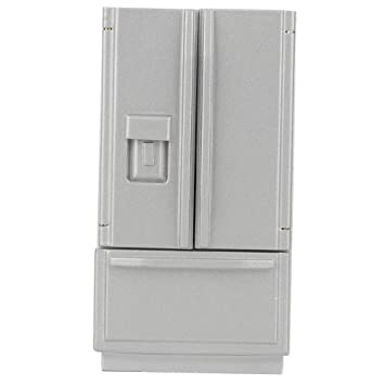 2 DOOR REFRIGERATOR GREY DOLLHOUSE FURNITURE
