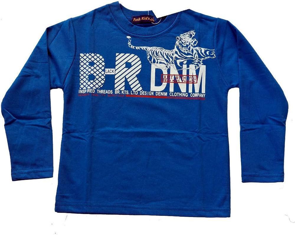 t/ürkis Tolles Langarm Shirt f/ür Coole Jungs in schwarz blau JS107e rot