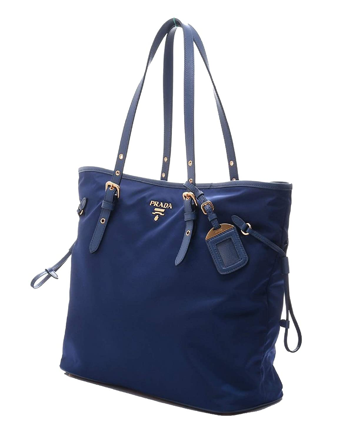 7e4fd90f6b8242 Amazon.com: Prada Tessuto Saffiano Royal Blue Nylon and Leather Trim  Shopping Tote Bag 1BG997: Shoes