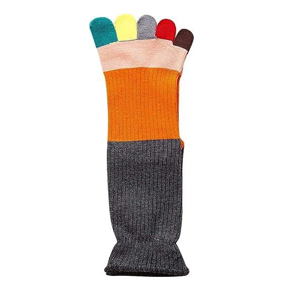 VJGOAL Mujeres Calentador Respirable Colorido Calcetines del dedo del pie Calcetines de cinco dedos Algodón Suave
