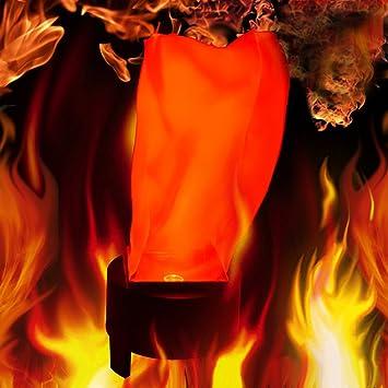 a3ce611047c Zantec Halloween LED que cuelga la lámpara de la llama falsa antorcha de la  luz del fuego del pote del tazón de fuente Festival Party Decor Prop   Amazon.es  ...