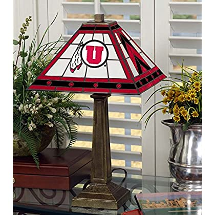 Image of Desk Lamps Memory Company NCAA University of Utah 23in Mission LAMP, One Size, Multicolor