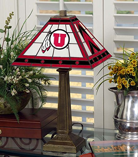 Memory Company NCAA University of Utah 23in MISSION LAMP, One Size, Multicolor by Memory Company