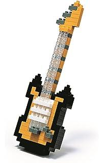 Juego de construcción guitarra eléctrica negra 160 piezas