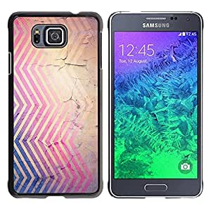FECELL CITY // Duro Aluminio Pegatina PC Caso decorativo Funda Carcasa de Protección para Samsung GALAXY ALPHA G850 // Cracked Pink Blue Brown Red