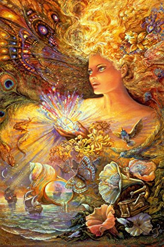 Josephine Wall Posters - Crystal Of Enchantment Art Print Poster By Josephine Wall, 24 x 36 Poster Print by Josephine Wall, 24x36
