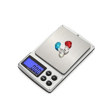 SIWEN Básculas Electrónicas De La Balanza De La Precisión De 500G /0.01G 1Kg /
