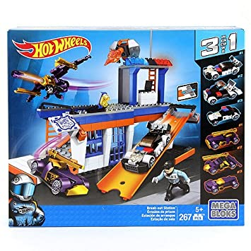 Hot Wheels Mega Bloks Break-out estación Set de Construcción: Amazon.es: Juguetes y juegos