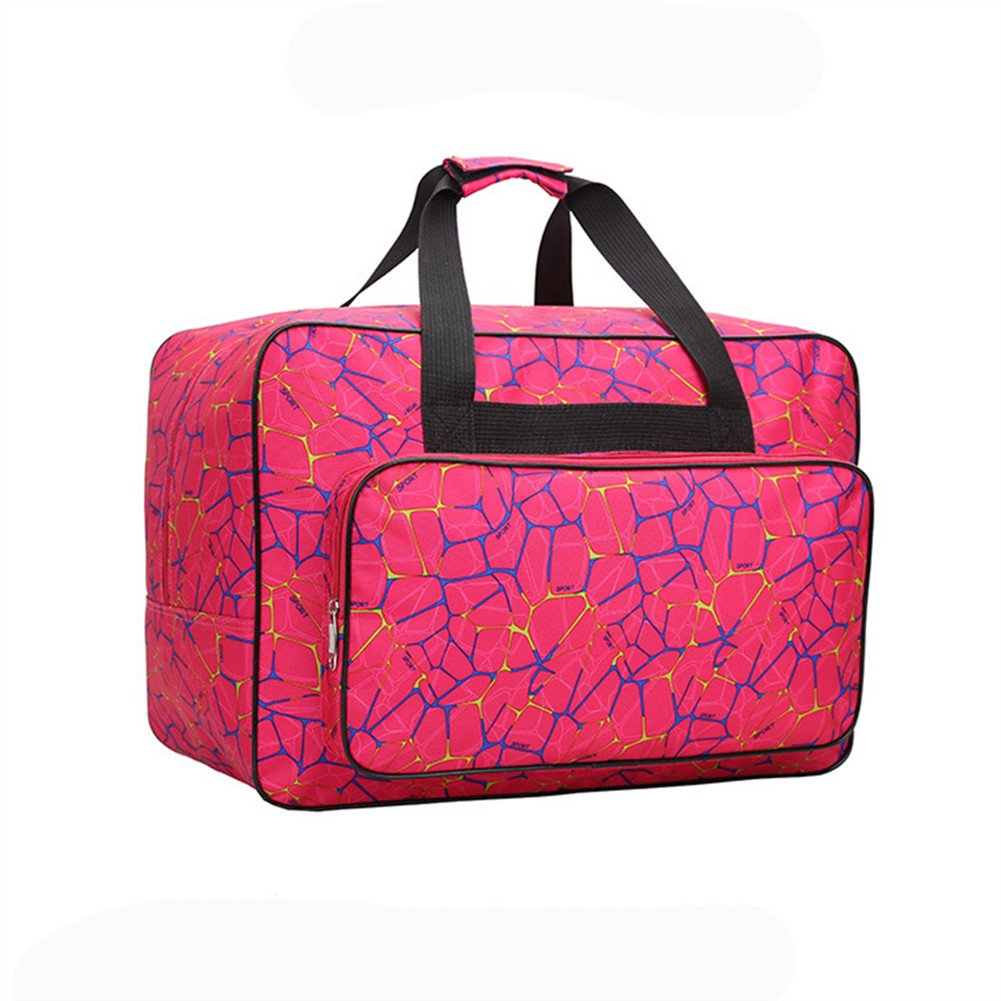 Sewing Machine Tote Bag, Homeself Universal Nylon Carry Bag, Universal Waterproof Padded Storage Cover Carrying Case with Pockets and Handles (Rose red)