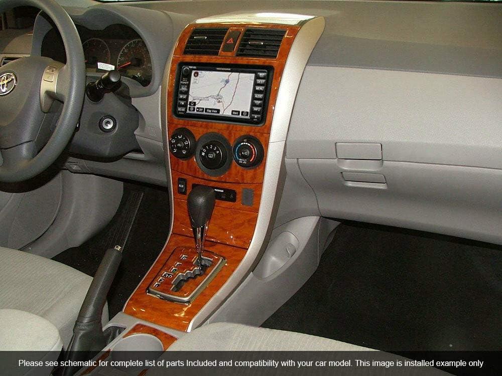 Amazon Com Toyota Corolla Interior Burl Wood Dash Trim Kit Set 2009 2010 2011 2012 2013 Automotive