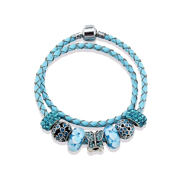 b0bfdf9476169 Pulsera Charm s Azul y Acero Inoxidable - MIS 2117 U - Blue Pearls 50% de