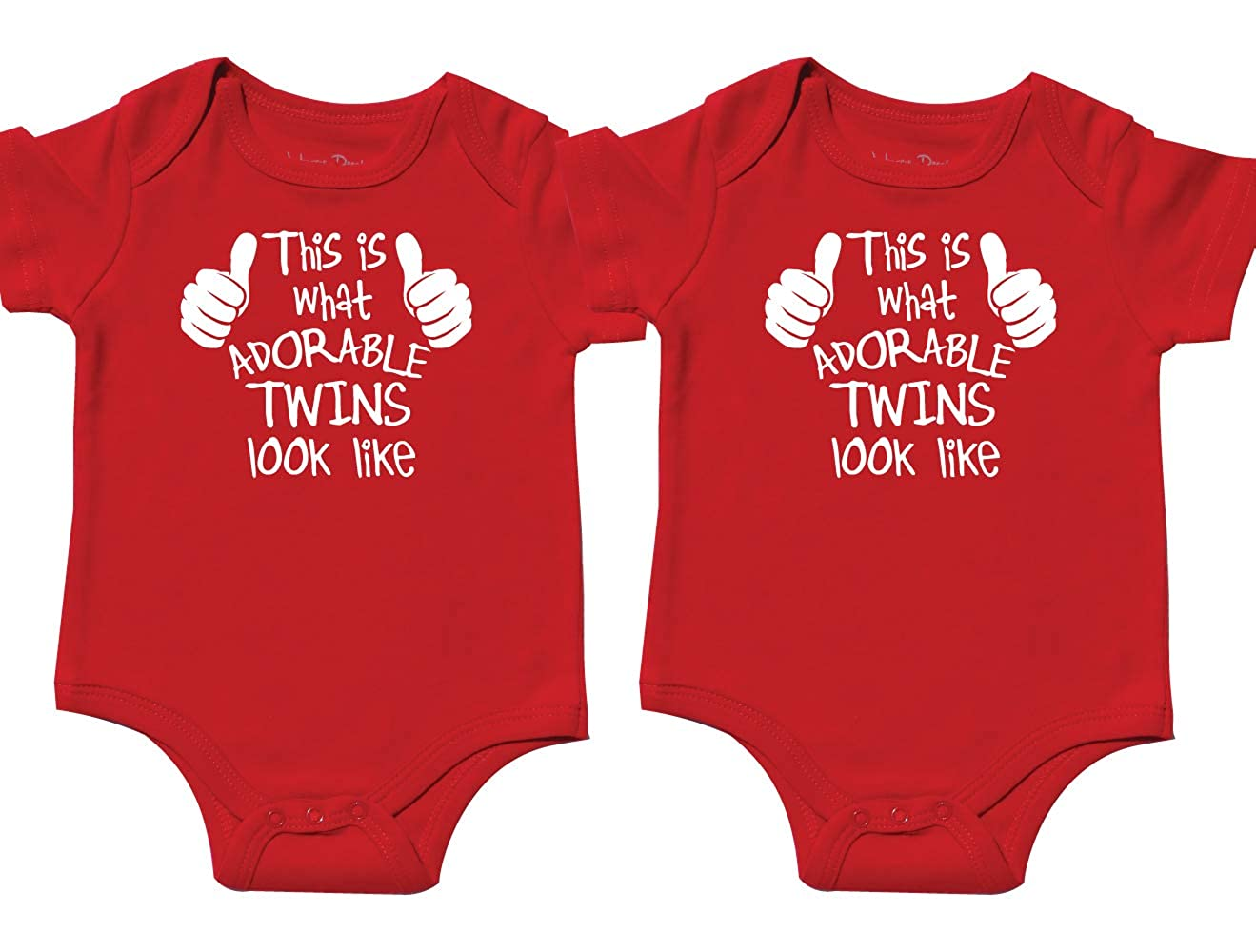 ae2bb6162 Please see Description for dimensions on t-shirts. Screen printed design on  Cotton bodysuits for comfort and softness. Gift Set Includes 2 bodysuits.