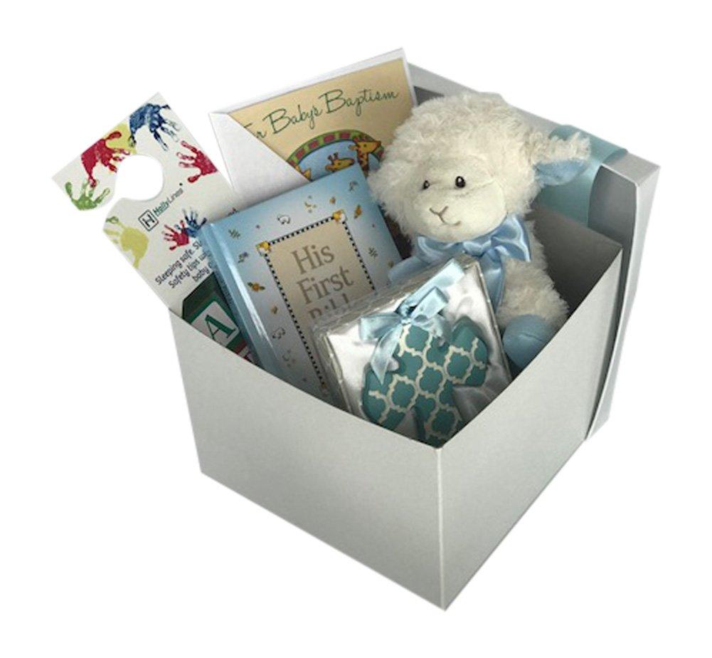 Baptism Gift for Baby Boy Gift Set Bundle Holly Lines Bundle