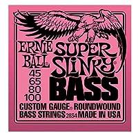 Ernie Ball - Set de bajos redondeados de níquel super slinky, .045 - .100